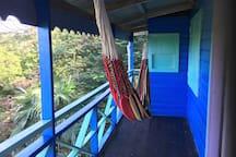 Balcon with hammoch in second floor