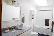Downstairs Bathroom with jet tub
