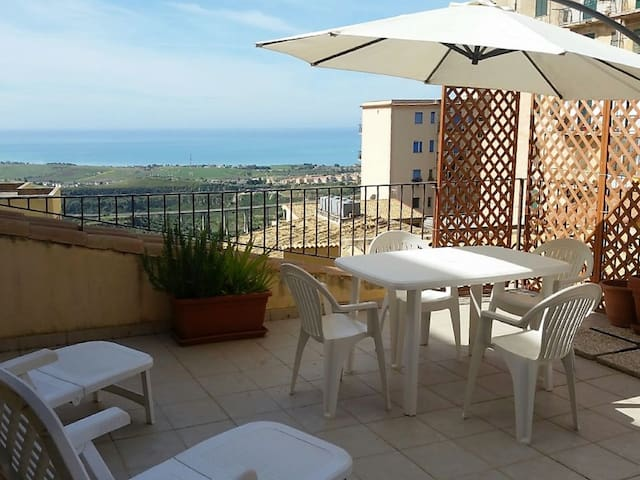 Big room sea view+wifi+parking 1 - Agrigento - Pousada