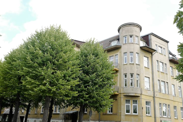 Apartment house at Uliha 25 was built just before World War I in 1914 and is one of the Art Nouveau buildings in Liepāja!