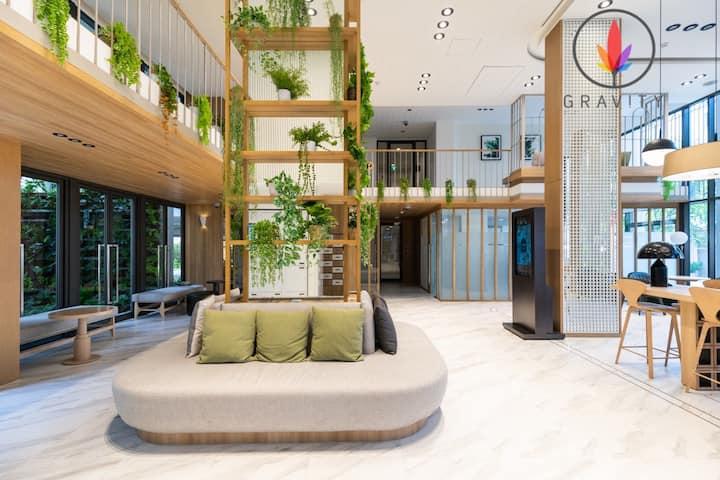 bts on nut 100米 高级泳池公寓。免费WIFI 路口商场 电影院