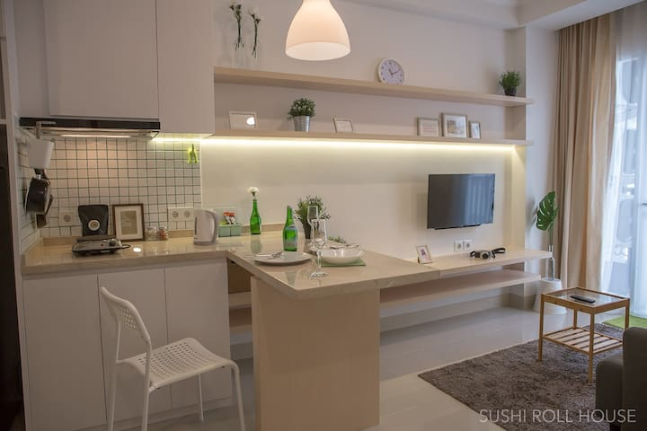 White & Modest 2-Bedroom Apartment. Clean & Cosy.