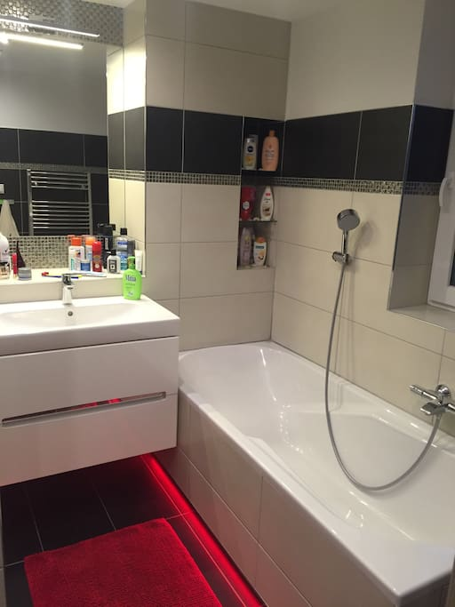 Vaňa v kúpeľni / Bath tube in bathroom