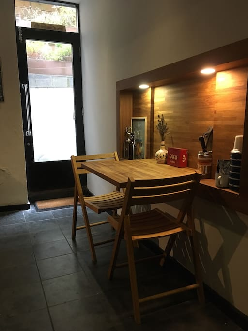 Little Kitchen table which seats 3
