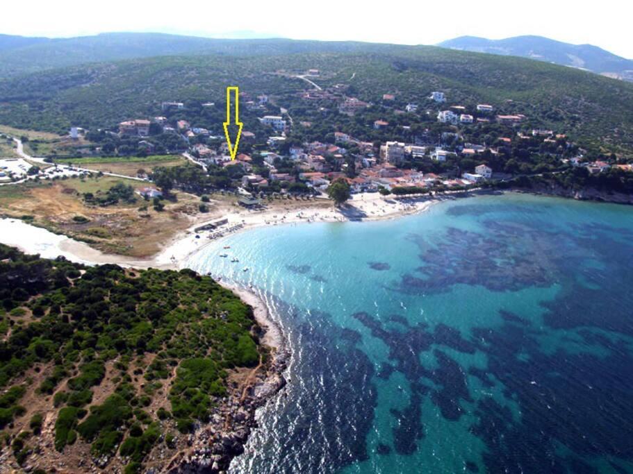 Posizione casa spiaggia Maladroxia