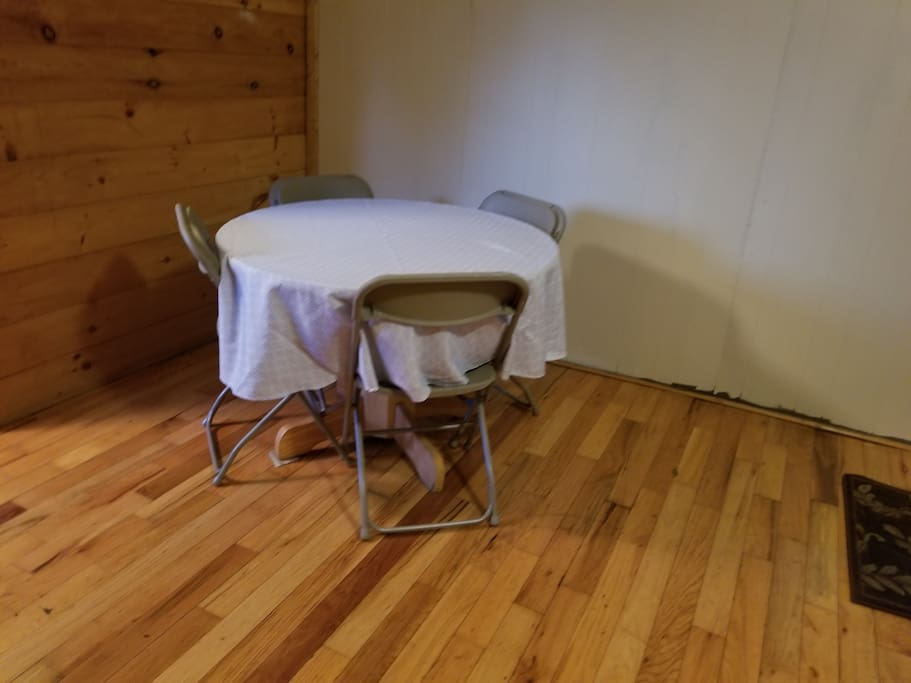 table with folding chairs