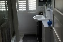 Renovated and shared bathroom