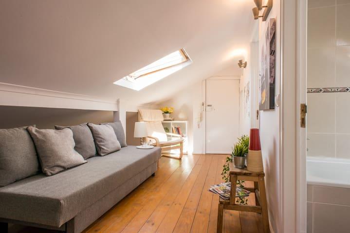Cosy attic for 5 in Lapa