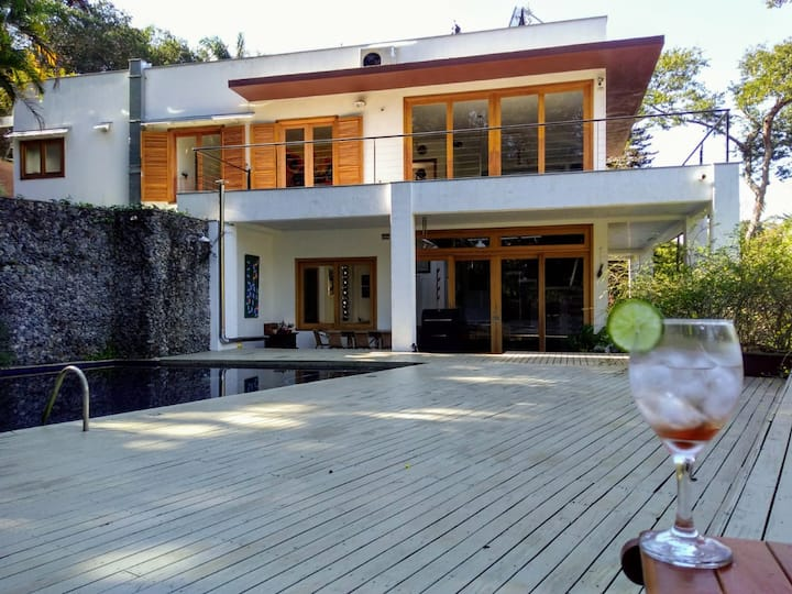 A two-storey modern and eco-friendly house