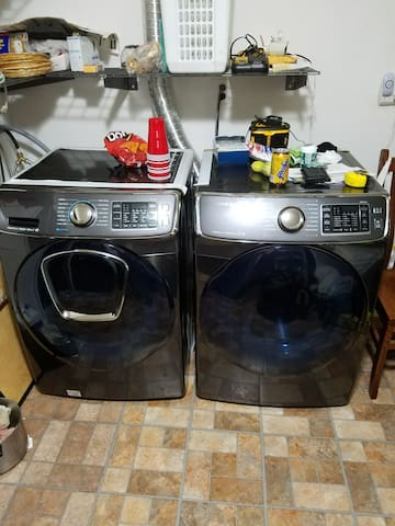 Washer and dryer .