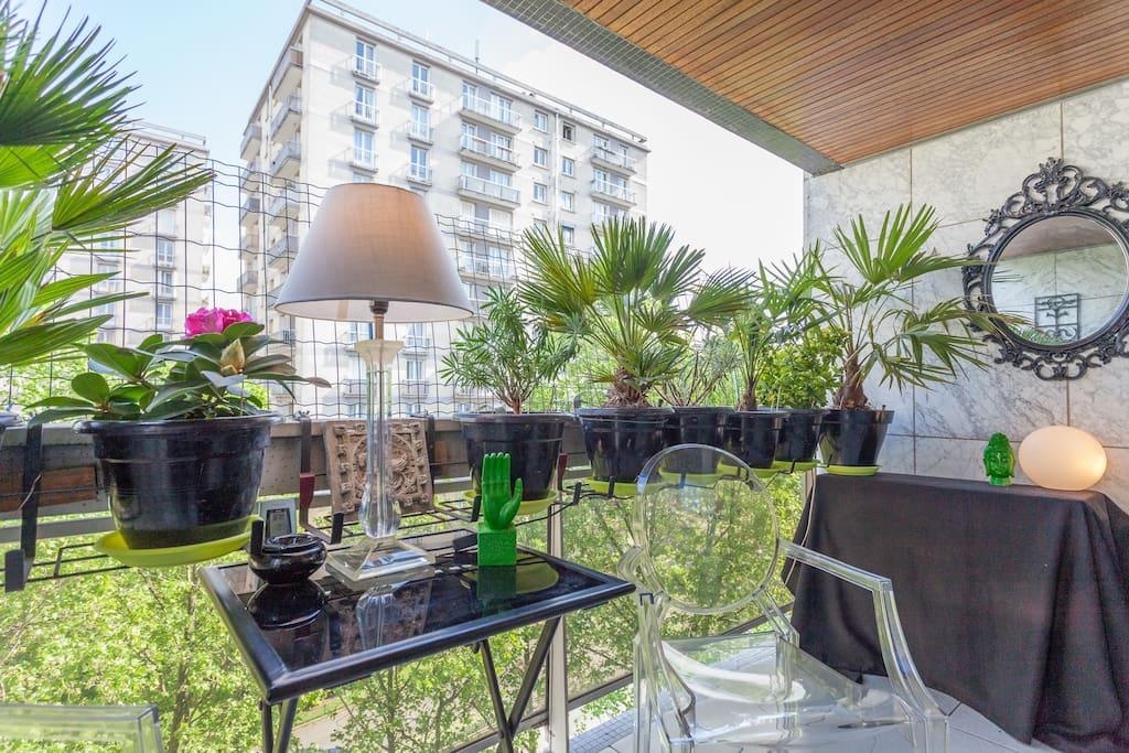 Belle terrasse pour profiter d'un été ensoleillé...