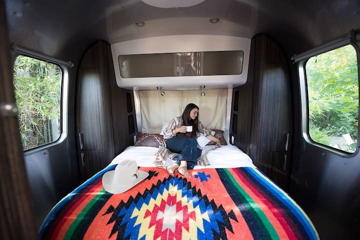 Relax in one of our cozy Airstreams...