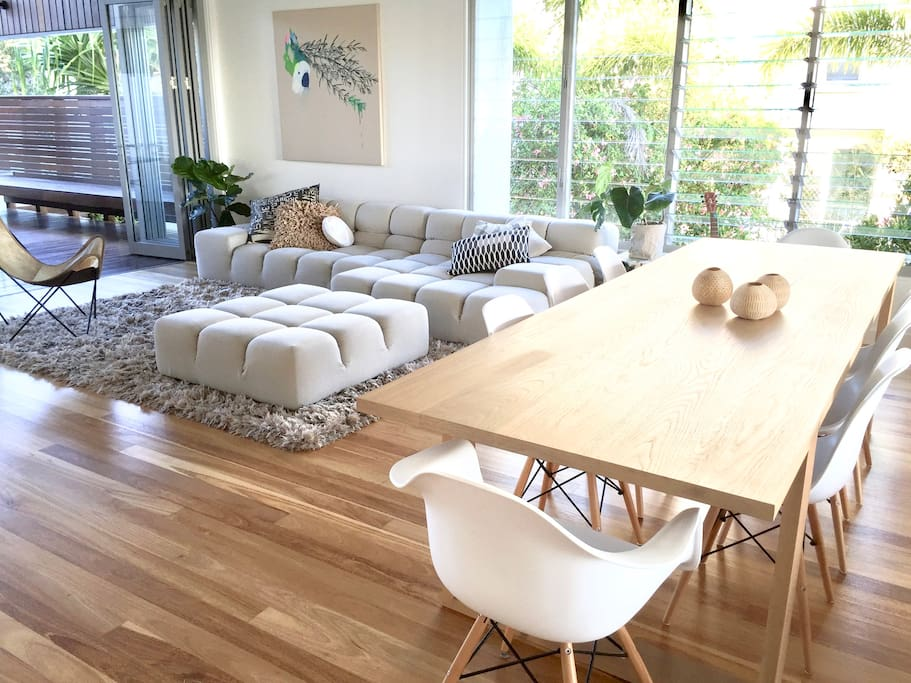 Contemporary styling with designer with designer furniture