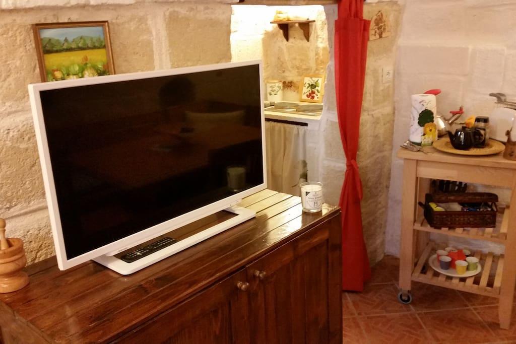 Il soggiorno con tv led