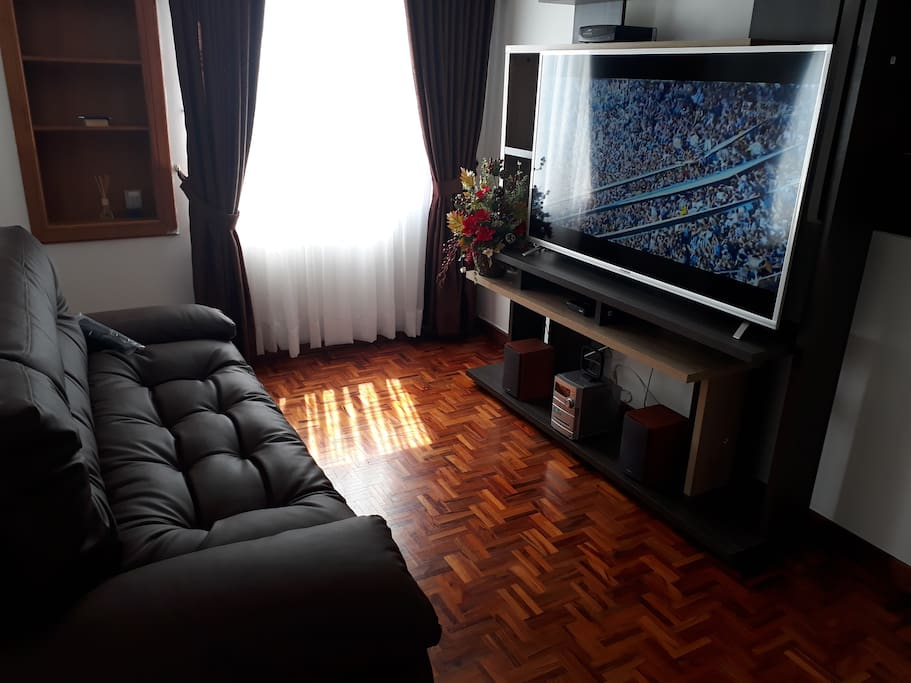 sala de tv con sofa cama