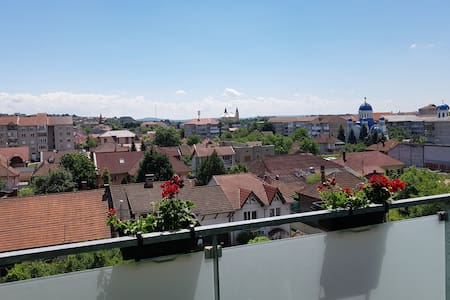 Top floor apartment with nice view &privateparking