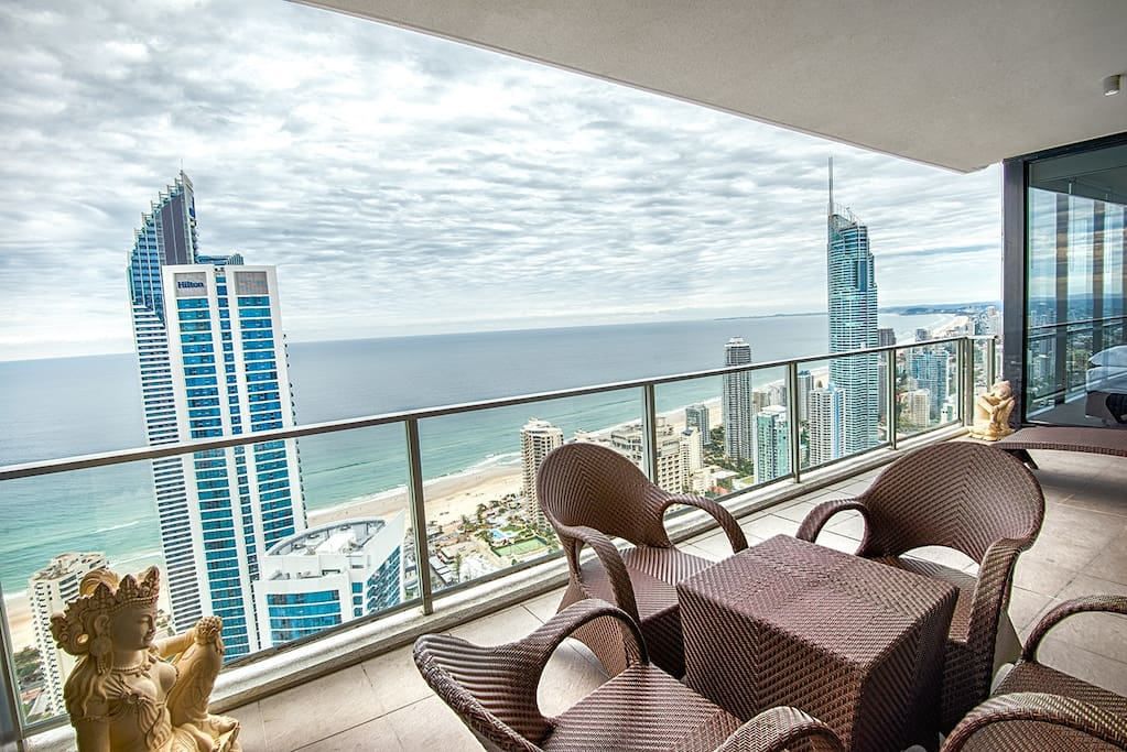 Gorgeous ocean views from your spacious balcony