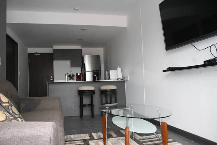 Beautiful one bedroom, with sofa bed in the Sabana
