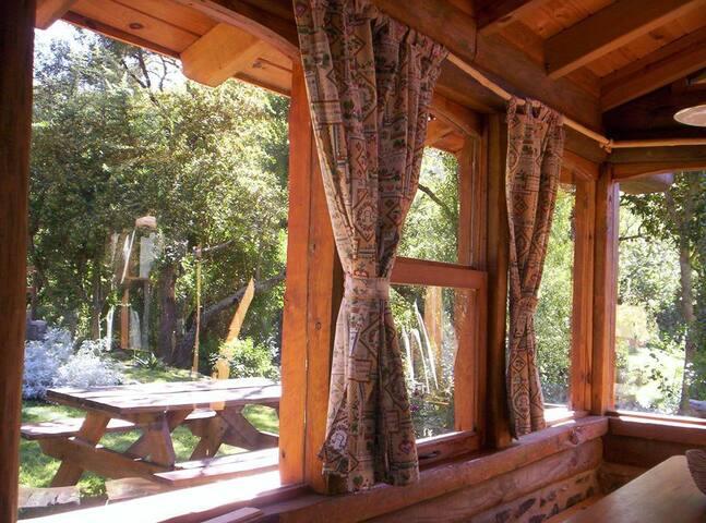 """Cabaña de troncos """"Del Bosque"""", lo mas  natural - La Cumbre - Бунгало"""