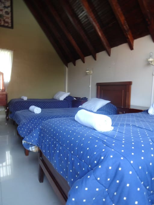 3 single beds with enough space