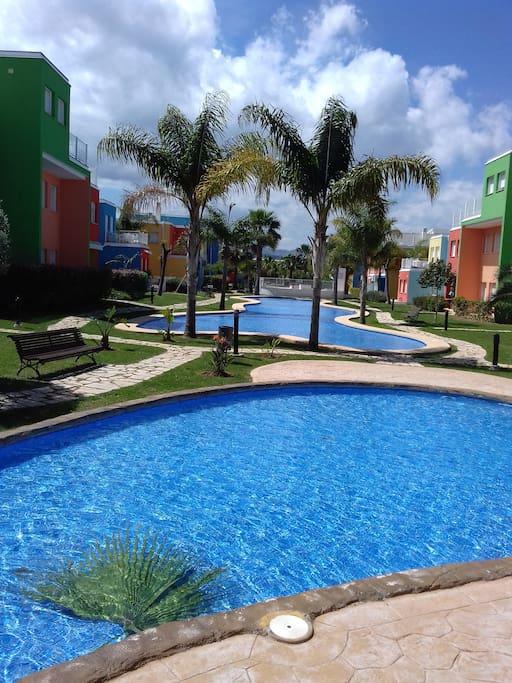 Adosado 2 Hab En La Costa Piscina Apartments For Rent