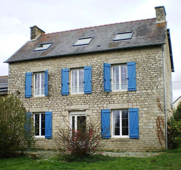Classical French rural stone house