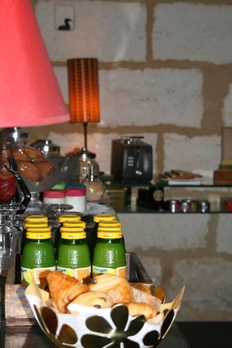 Le petit dejeuner inclus dans le tarif de la nuit
