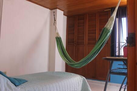 Habitación privada con hamaca en barrio El Prado - Барранкилья