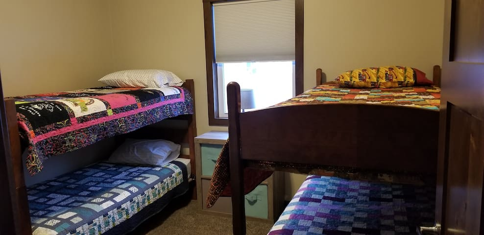 We also have two twin mattresses with bedding if needed.  Pack and play or a baby mattress available.