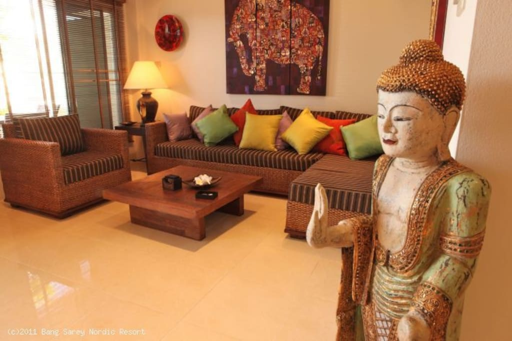 Elegantly furnished and decorated. You feel right at home here!