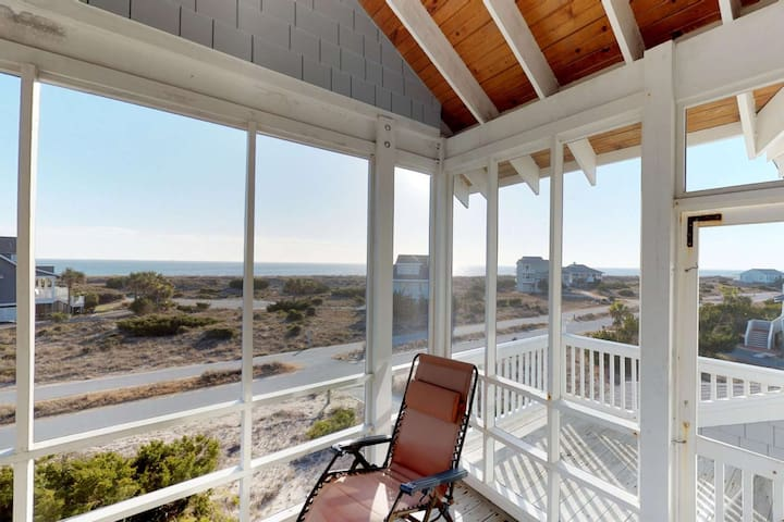 One of the best porches on BHI, great views of the ocean anytime of day and plenty of space for the entire crew to relax