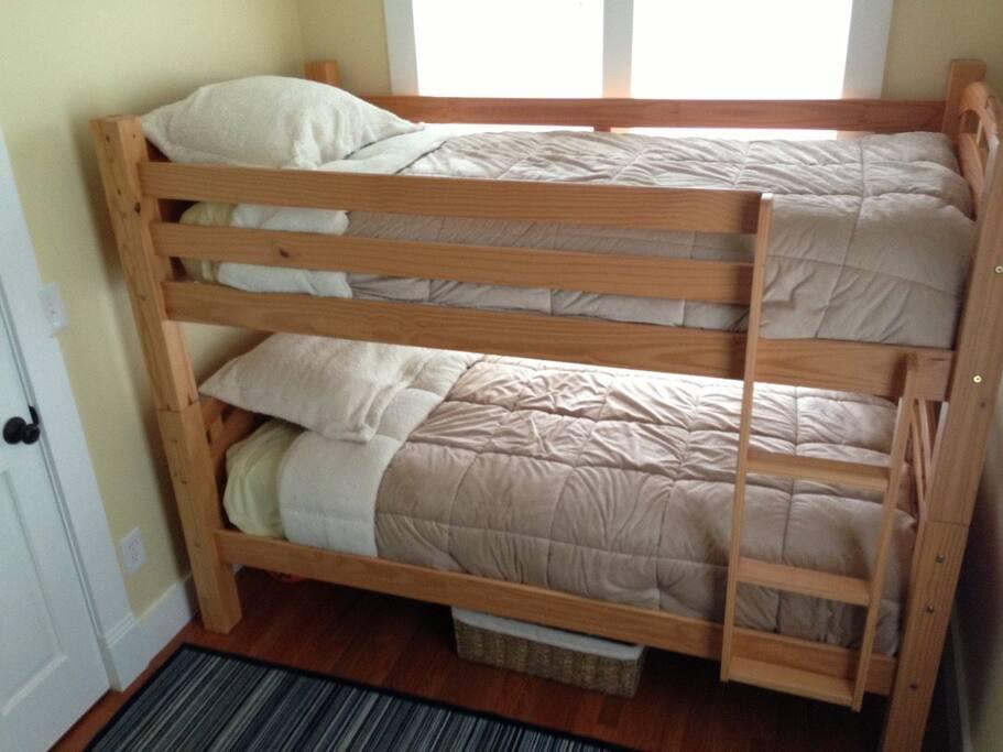 Comfy bunkbeds.