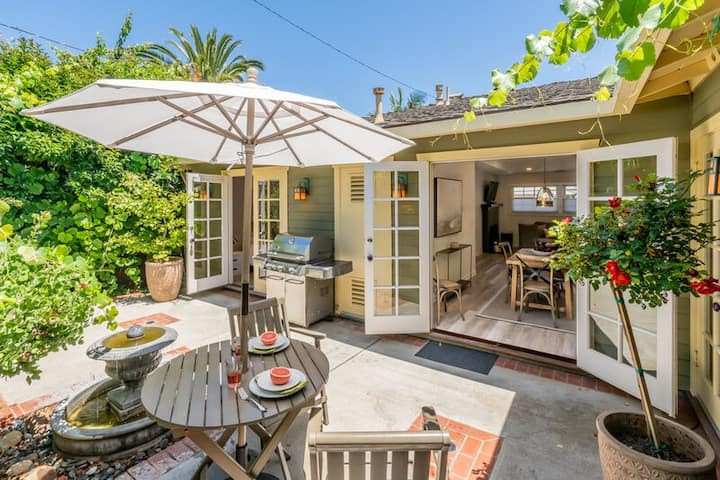 Tranquil and posh cottage near the heart of downtown SB!