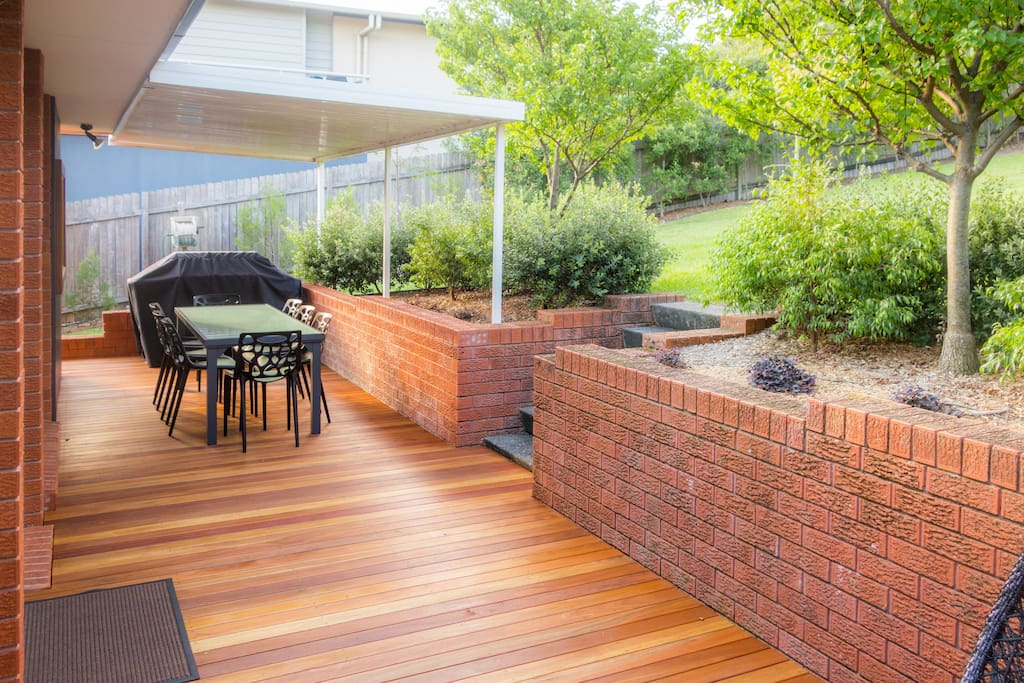 Heaps of outdoor space! Enjoy a BBQ on the deck while the kids play in the grassy, fenced backyard.