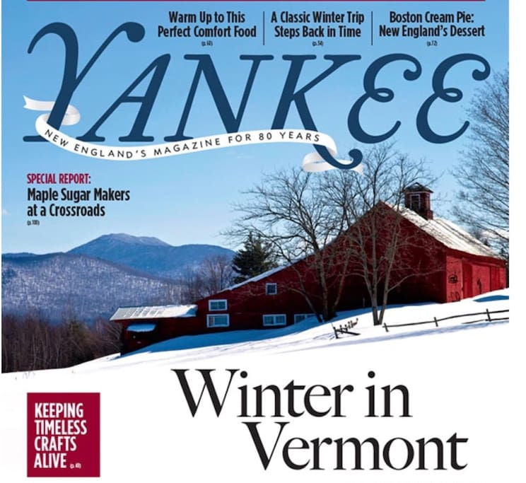 Barn & farm featured on the cover of Yankee Magazine 2015.