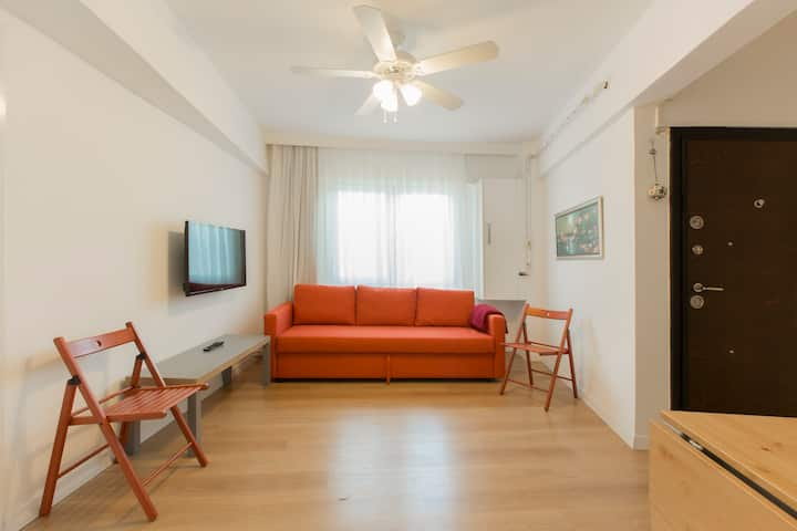 Renov, 4 BDR, 2 Bths, 3 ACs in the heart of Taksim