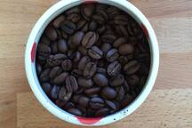 We roast our own coffee at the Ranch. Guests can have coffee delivered to the Airstream and also buy freshly roasted coffee to take home.