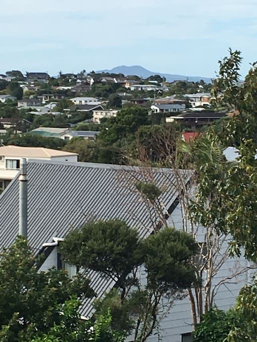 View from deck towards Rangitoto