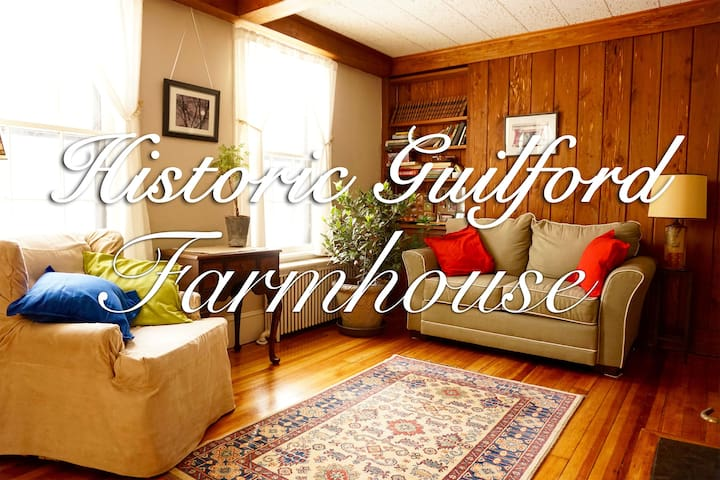 Historic Guilford Farmhouse - Guilford - Casa