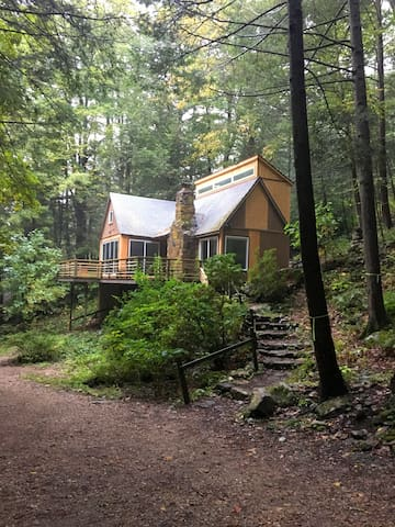Cosy, modern, forest cabin with bubbling brook - 콘월 - 단독주택