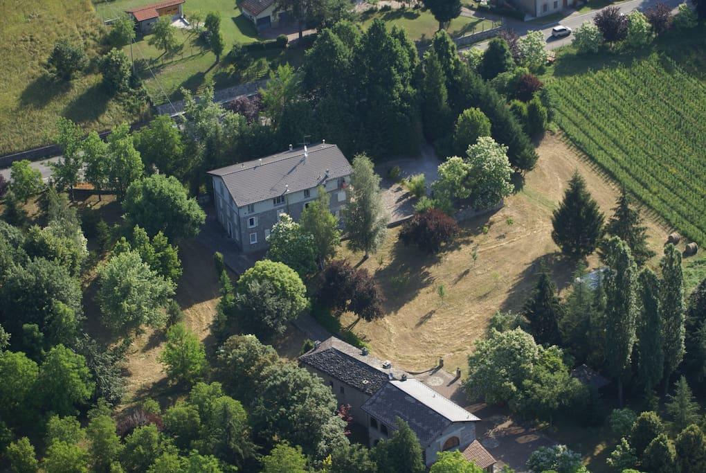 Complesso case di sasso della tenuta