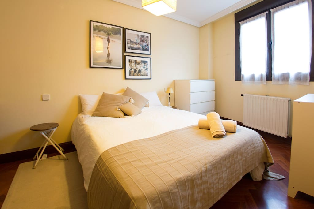 double bed, lightly room
