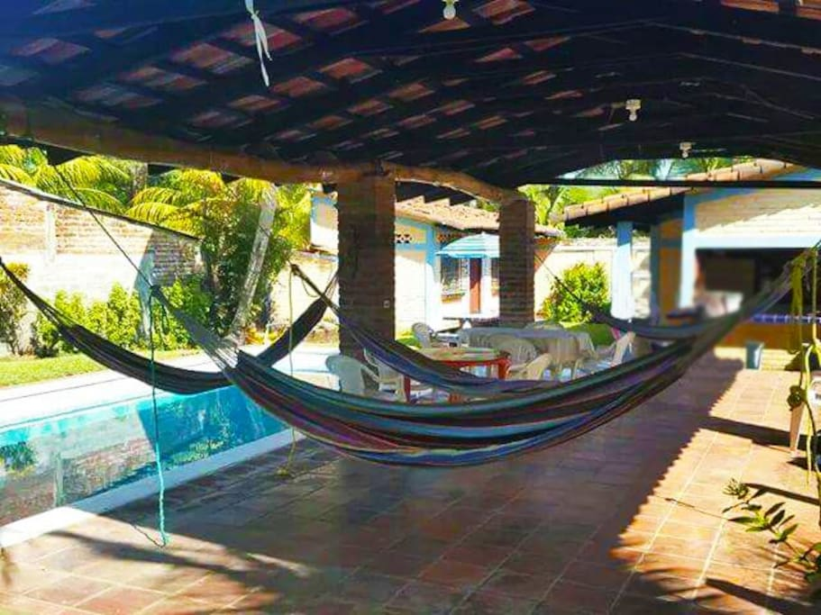 Multiple hammocks to enjoy your siesta
