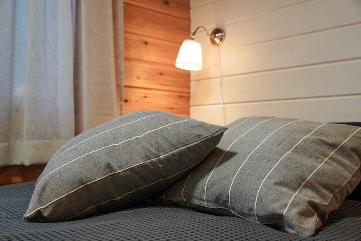 Stylish  place with sauna and fireplace