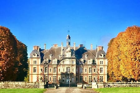 Lavish Chateau Apartment Near Paris - Ocquerre - Apartemen