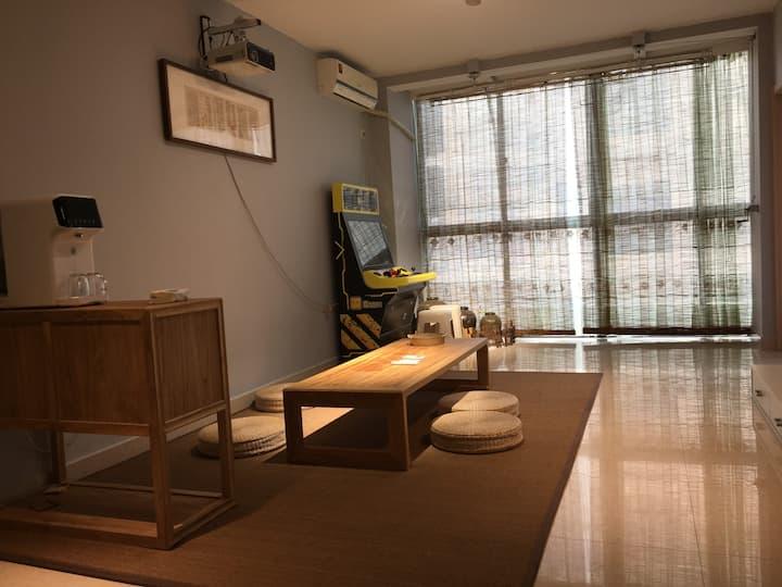 【缦音舍】两层独享日式榻榻米/高清私人电影/中远世纪公寓/