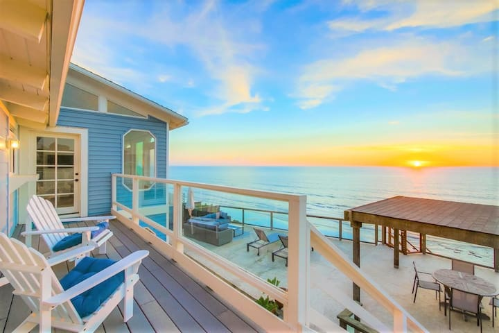 50' OceanFront ☆ Direct Beach Access ☆ Dog OK ☆ AC