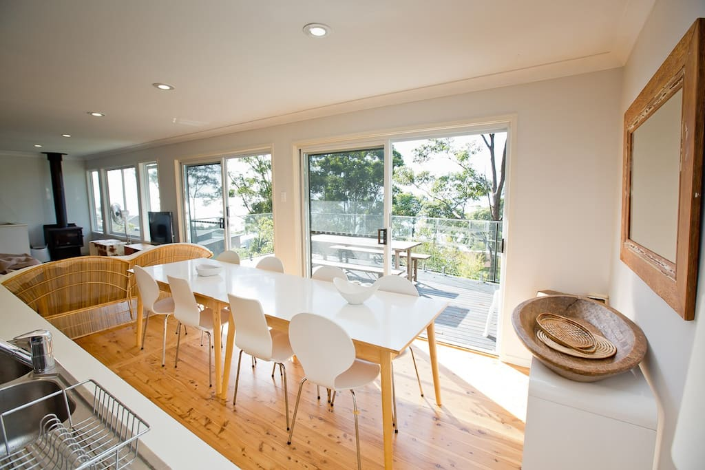 Great outlook from the kitchen - Booderee Lodge at Hyams Beach