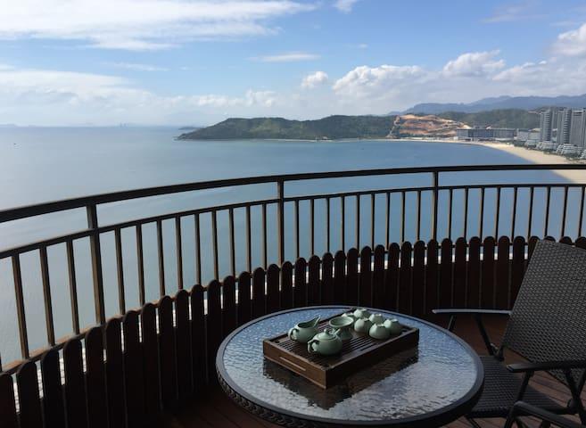 碧桂园十里银滩 270度海景稀缺端头位酒店式公寓大三卧套房 - Huizhou - Apartment