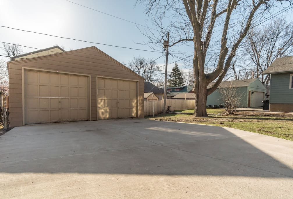 Unit includes single car garage space and off street parking